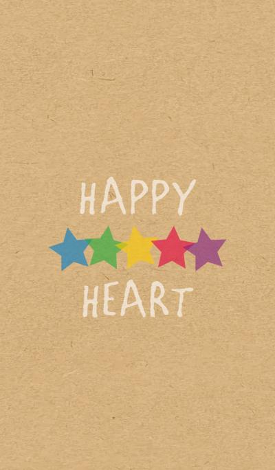 STAR HEART -5color KRAFT-