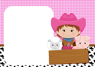 Brunette Farmer Birthday Party: Free Printable Invitations.