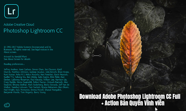 Download Adobe Photoshop Lightroom CC Full + Action Bản Quyền Vĩnh viễn