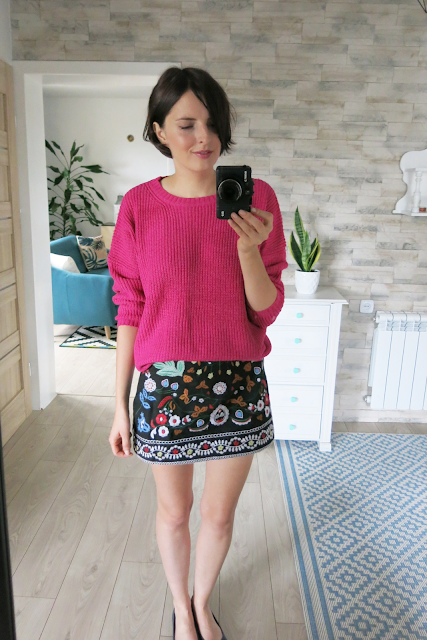 Drop Shoulder Oversized Sweater