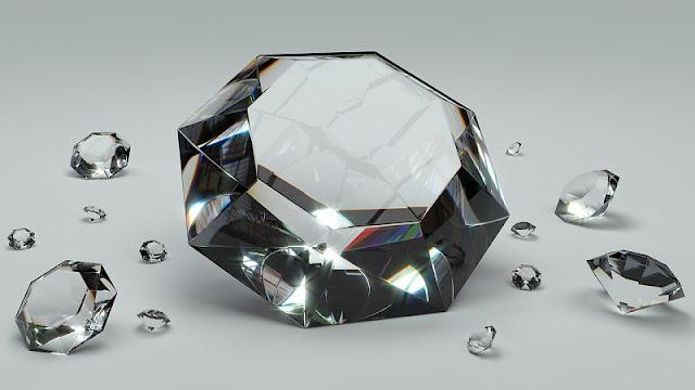 Kemilau kumpulan batu berlian