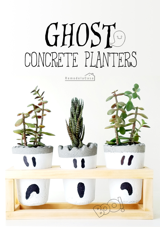 how to make little concrete planters