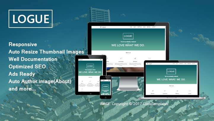 Free Download Logue - One Page Blogger Template