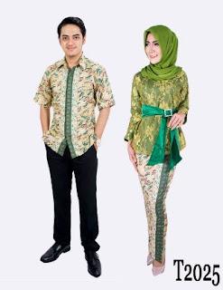 Kebaya muslim couple kombinasi batik
