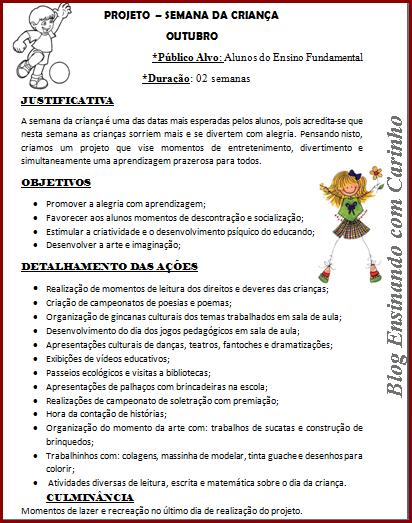 Projeto para o dia das Crianças