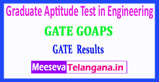 GATE Graduate Aptitude Test in Engineering 2018 GATE Results Rank Card Download