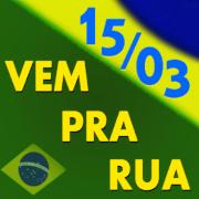 vem pra rua bandeira do Brasil