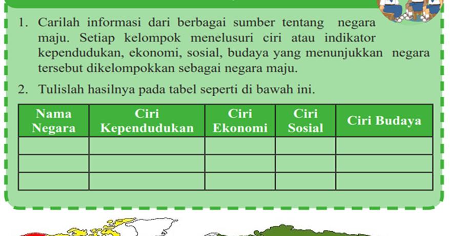 mengerjakan pr informasi tentang negara maju berdasarkan ciri
