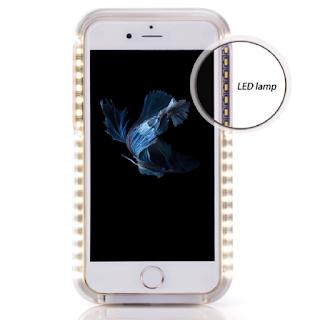 Coque Iphone 6 avec LEDS pour faire des selfies bien éclairés