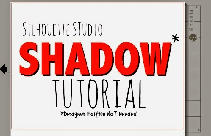 Silhouette Studio, shadow tutorial