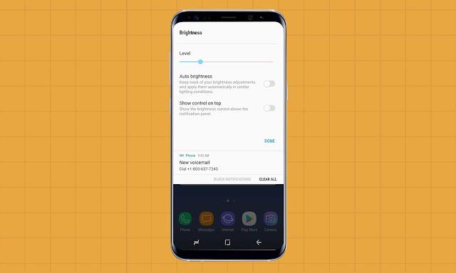 Auto brightness Galaxy S8
