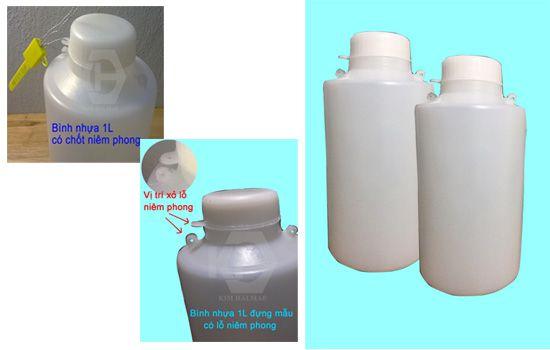 Lọ nhựa đựng mẫu có khóa niêm phong