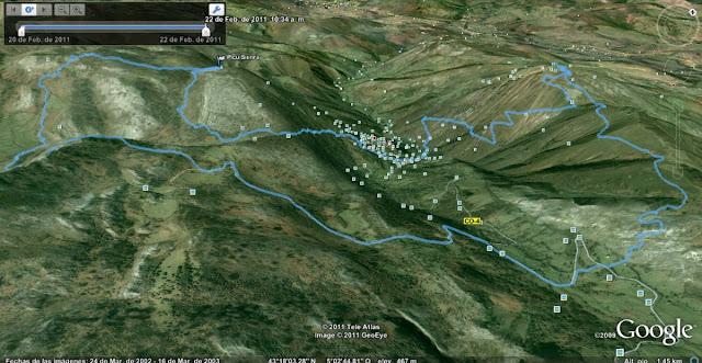 Rutas Montaña Asturias: Mapa de la ruta