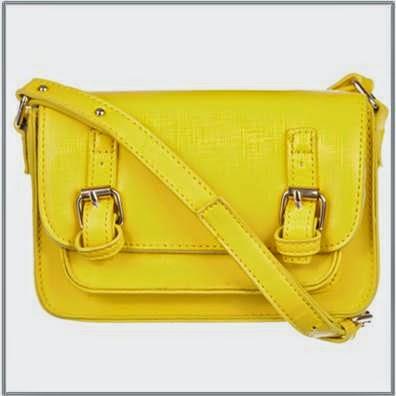 Spurr Yellow Cross Body Bag
