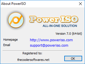 PowerISO 7.1 Serial Key Crack License Code Activation Registration