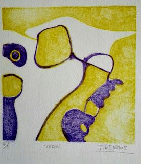 Litografía de la artista Teresa Bustos.