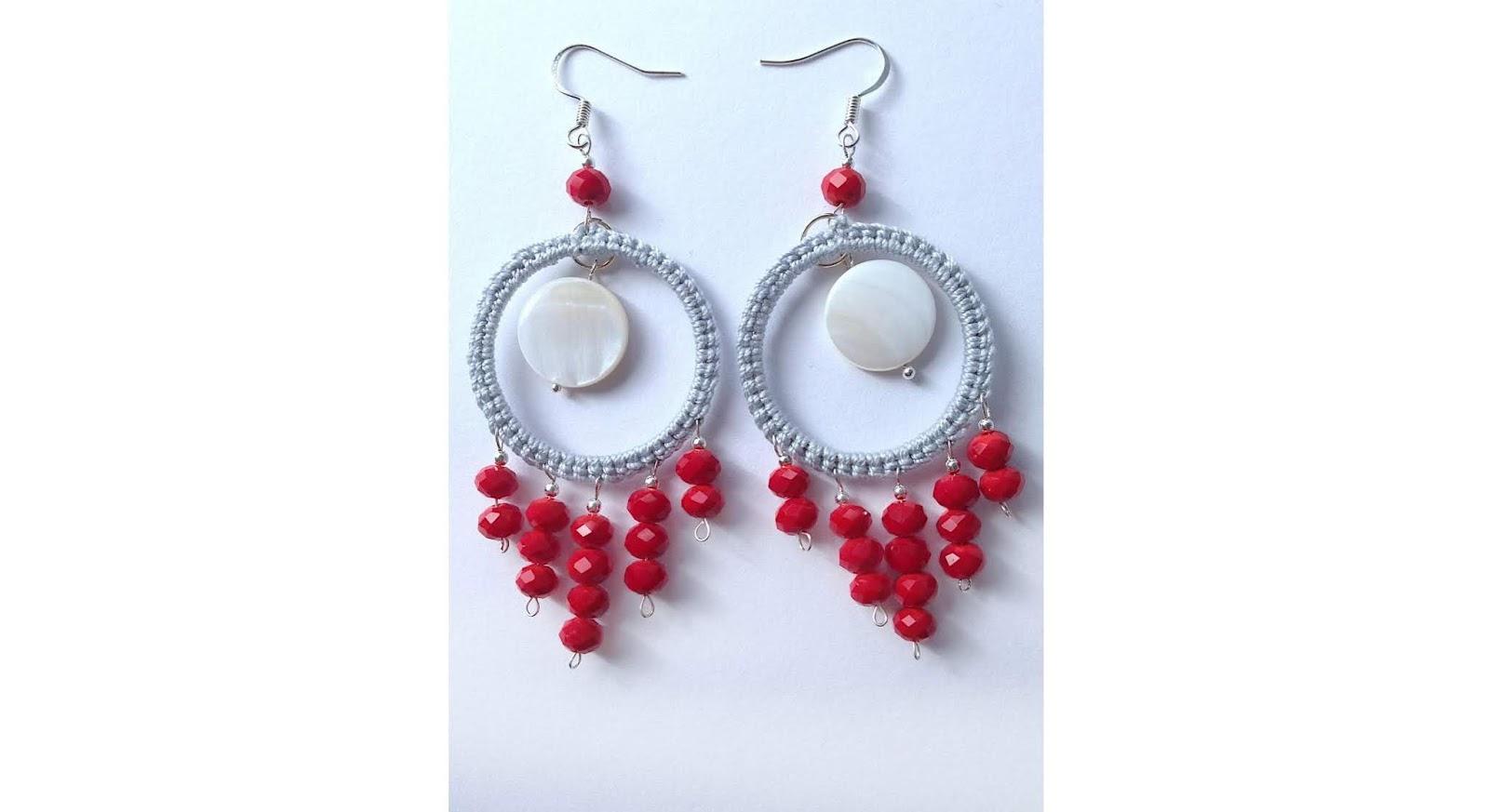crochet boho chic earrings