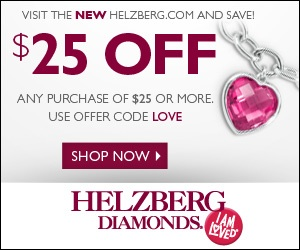 Helzberg Diamonds Coupons, Sales & Promo Codes. For Helzberg Diamonds coupon codes and deals, just follow this link to the website to browse their current offerings. And while you're there, sign up for emails to get alerts about discounts and more, right in your inbox. Jump on this killer deal now and your budget will thank you!