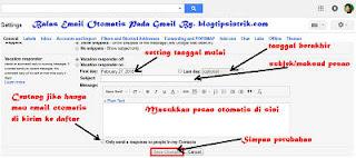 Tutorial Lengkap Cara Setting Gmail Balas Email Otomatis Melalui PC