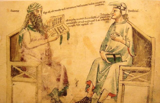 Debat imajiner antara Averroes (Ibnu Rushd) dan Porphyry.
