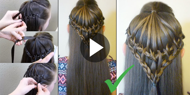 Learn - How To Create Simple And Easy Lace Braid Hairstyle, See Tutorial