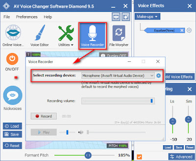 best voice changer for Pc with built in voice recorder