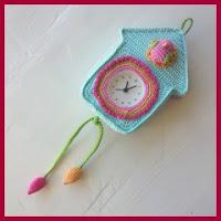 Reloj de cuco a crochet