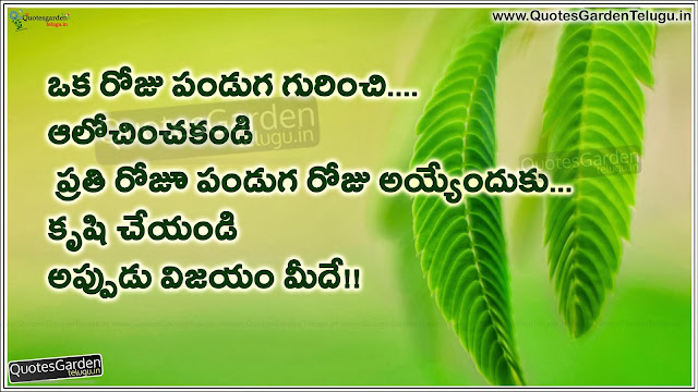 Make Life as a Festival - Telugu motivational messages