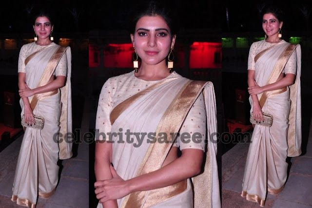 Samantha in Shilpa Reddy Saree