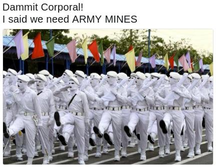 Iranaian army mimes meme