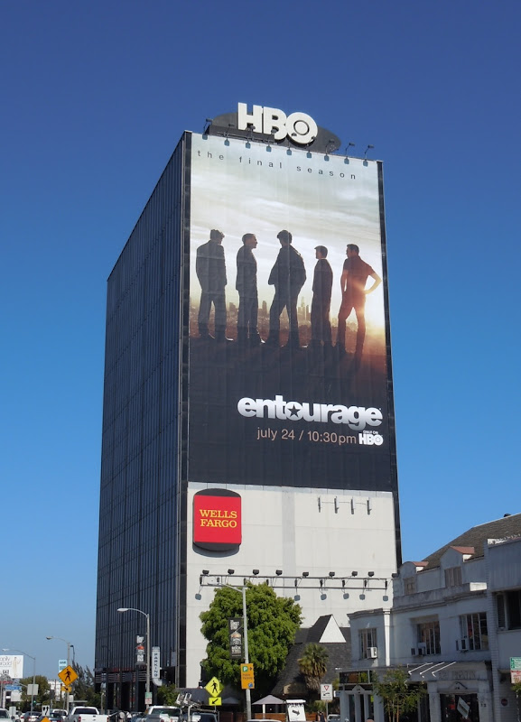 Giant Entourage season 8 billboard