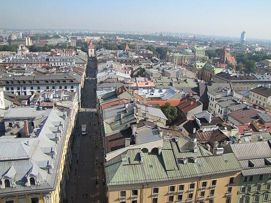 Floriańska (widok z wieży Kościoła Mariackiego)