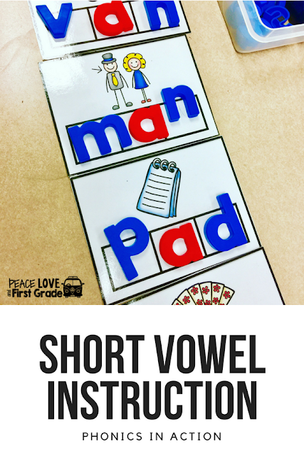 Short vowel activities for practice and review