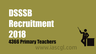 DSSSB Recruitment 2018