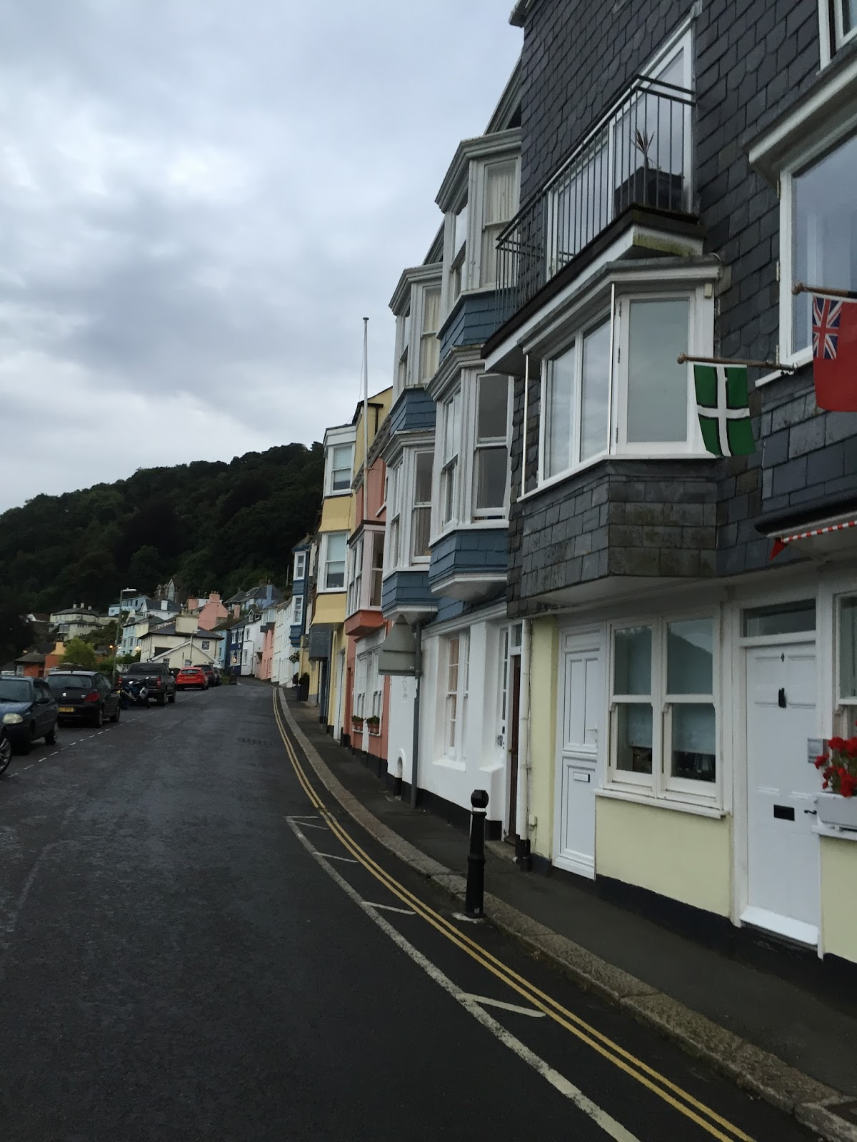 Kingswear pastel houses