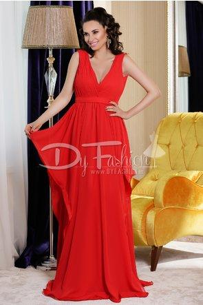 Rochie eleganta de gala Rosie Lunga de Seara fara maneci