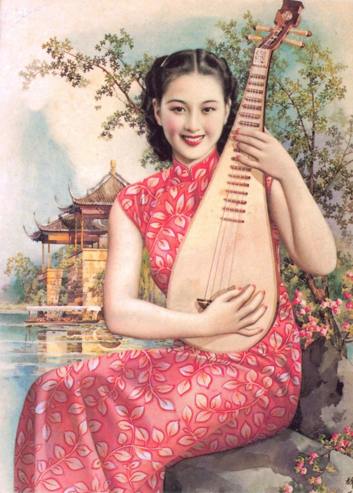 mauritian philatelic blog: pipa on hong kong postcard