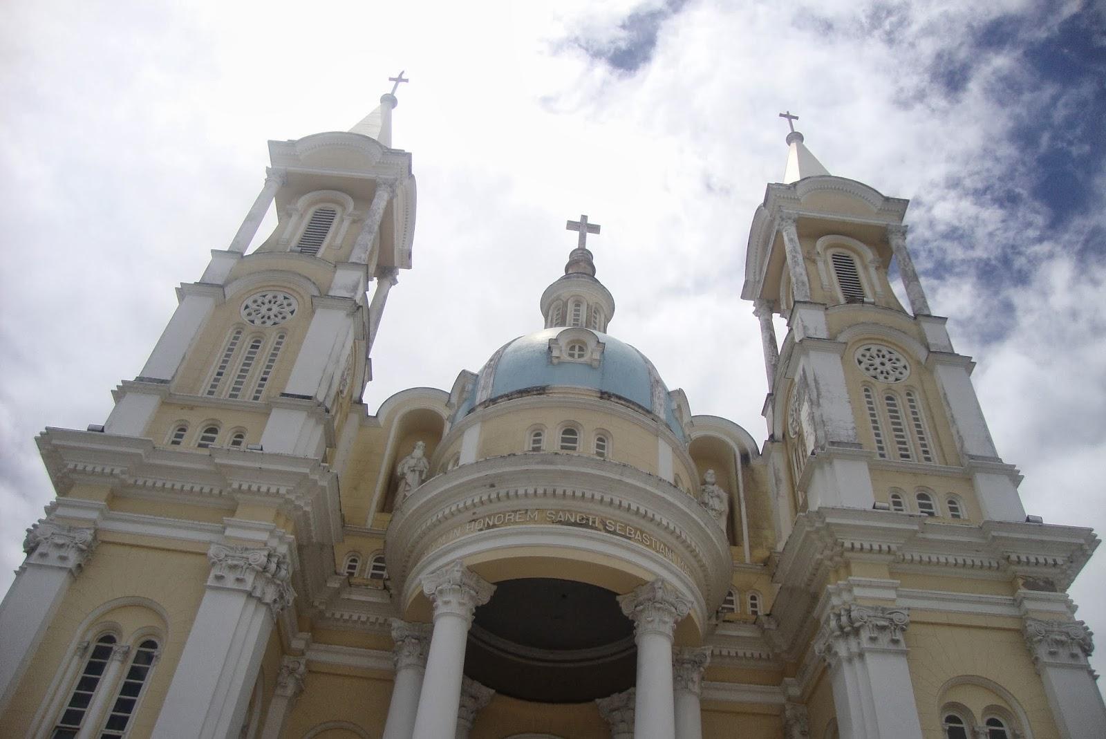 Frente da igreja de São Sebastião, em Ilhéus - BA