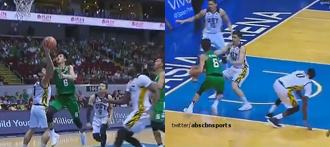 Ricci Rivero with the NASTY Eurostep Moves vs UST, Bench Goes Wild (VIDEO)