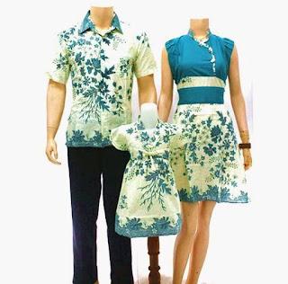 model baju batik sarimbit keluarga pasangan muda