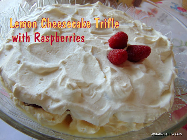 Lemon Cheesecake Trifle with Raspberries