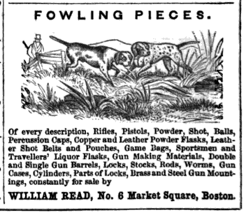 Old Ads Are Funny 1850 Ad Fowling Pieces