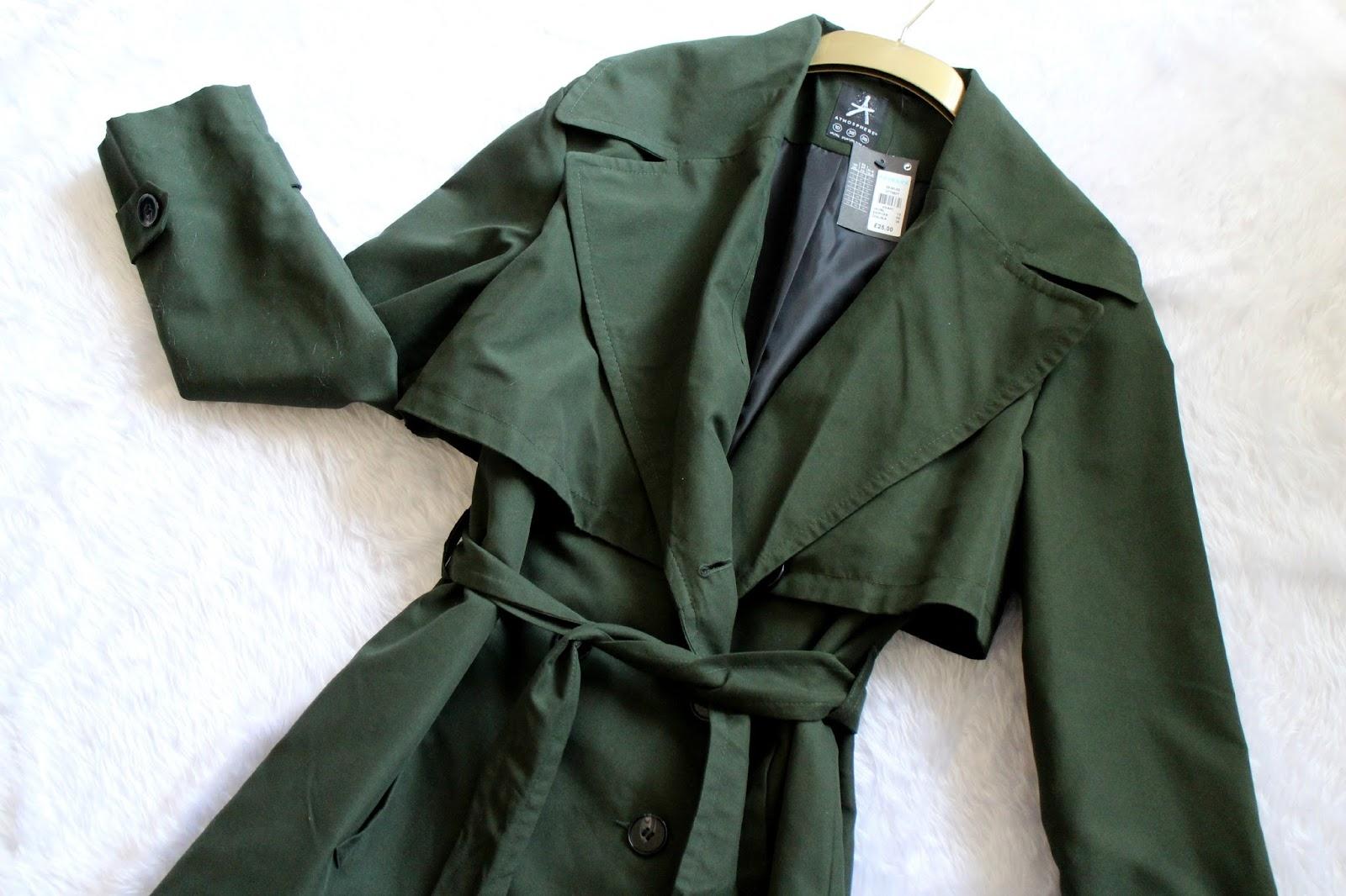 Primark Green Trench Coat