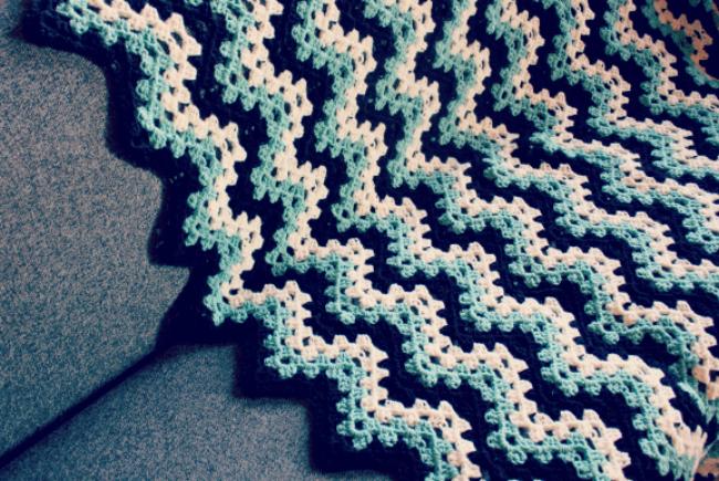 Zig Zag Granny Ripple Pattern Free Crochet Crochet Designs And