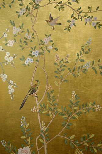 CHLOE VAN PARIS: De Gournay Hand painted wallpaper