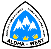 ALDHA-West (American Long Distance Hiking Association- West)
