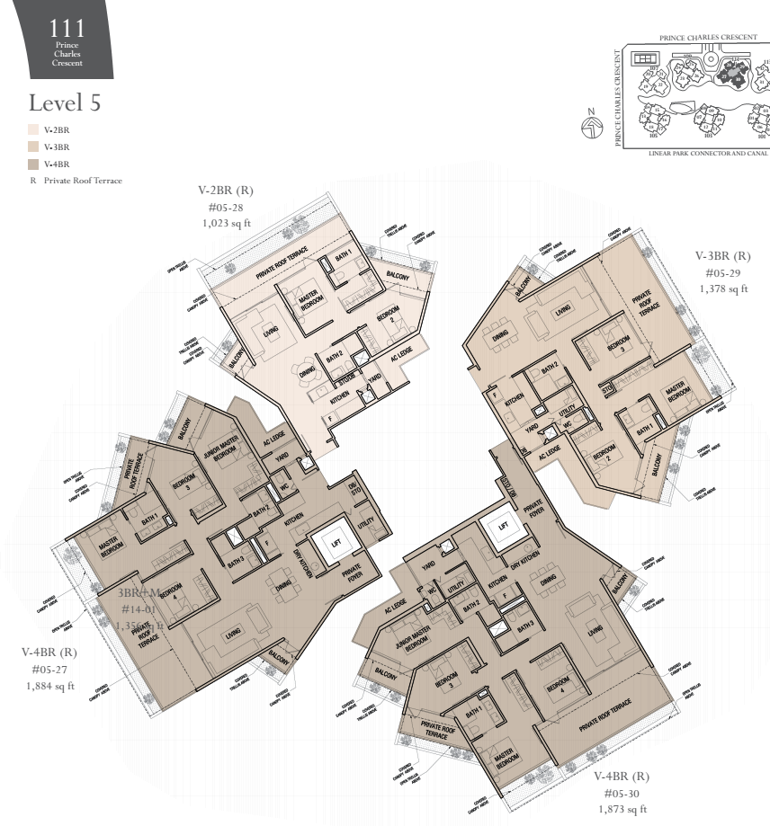 The Crest Lastest Condo At Prince Charles Crescent By Wingtai Floor Plans