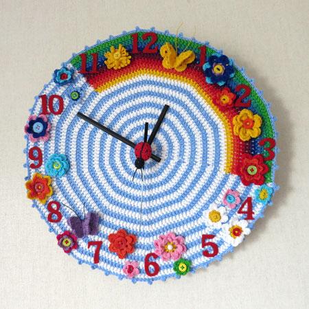 Patrones crochet - Hacer un reloj de pared ...