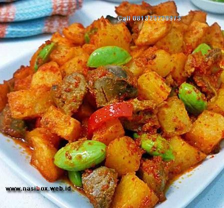 Resep sambel goreng kentang nasi box patenggang ciwidey