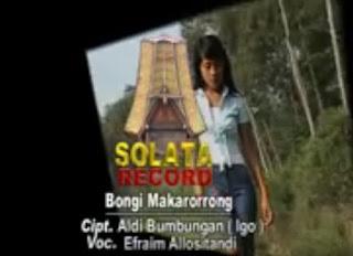 Lirik Lagu Toraja Bongi Makarorrong (Efraim Allositandi)